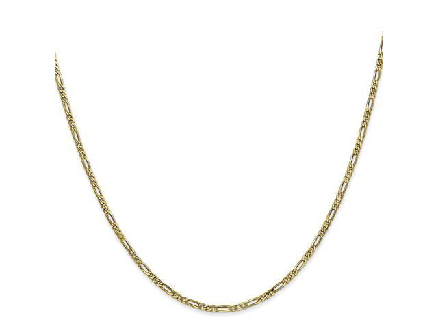 10k Yellow 20in Gold 1.75mm Polished 20 inch Figaro Necklace Chain