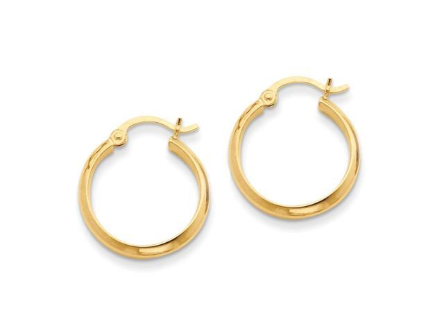 14k Yellow Gold Polished Hoop Earring (20mm Diameter)