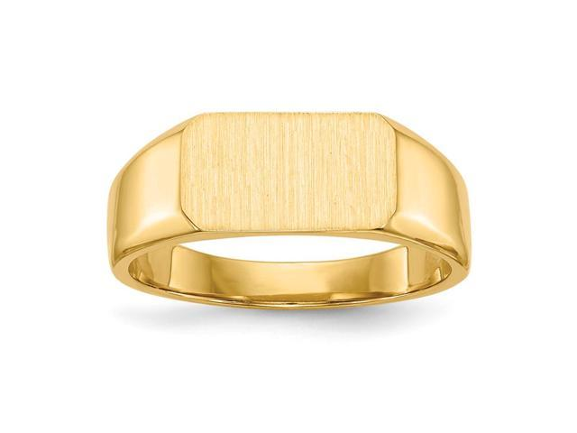 14k Yellow Gold Engravable Signet Ring (6.5mm x 11.3mm face)