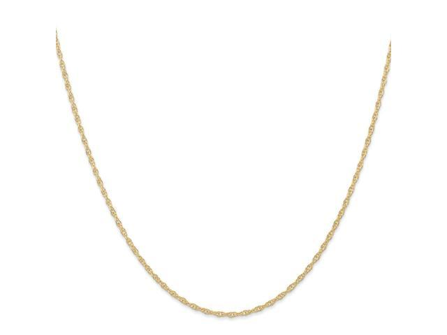 14k Yellow Gold 18in 1.15mm Carded Cable Rope Necklace Chain