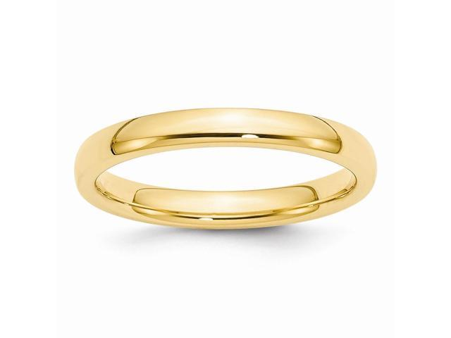 14k Yellow Gold Engravable 3mm Comfort-Fit Band