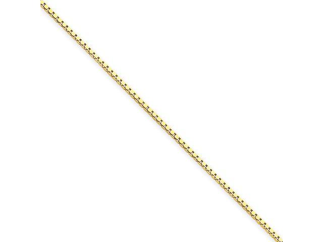 14k Yellow Gold 9in 1.0mm Box Chain Bracelet