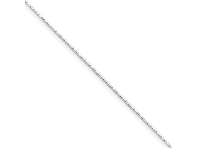 10k White 20in Gold 1mm Box Necklace Chain