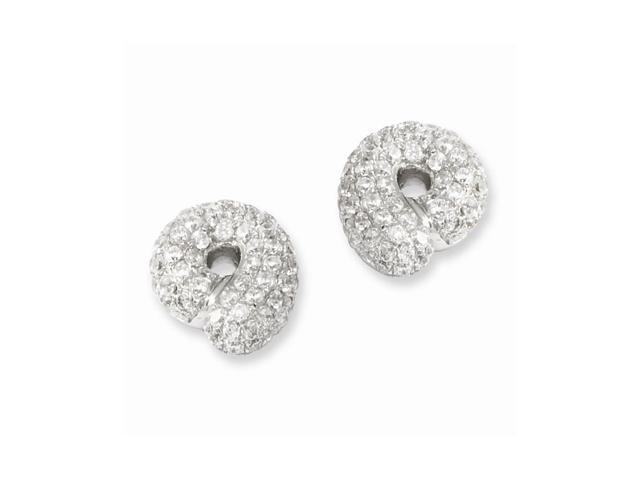 Sterling Silver & Synthetic CZ Embers Post Earrings