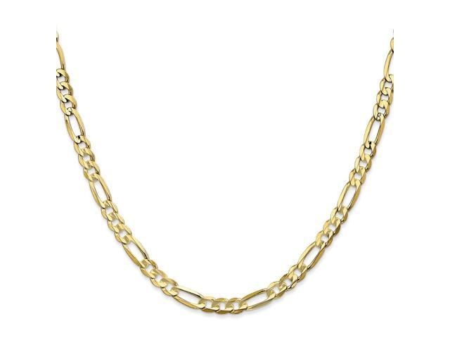 10k Yellow Gold 7in Light Figaro Chain Bracelet