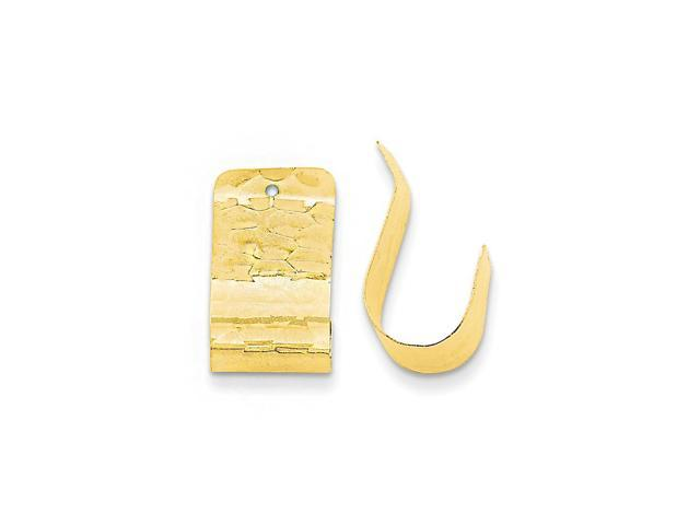 14k Yellow Gold Polished Hammered Earrings Jackets (0.7IN x 0.4IN )