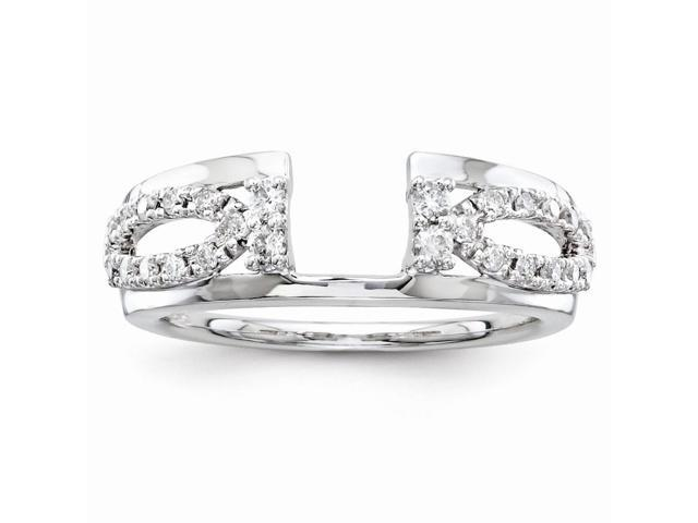 14k White Gold Diamond Ring Wrap (Color H-I, Clarity SI2-I1)