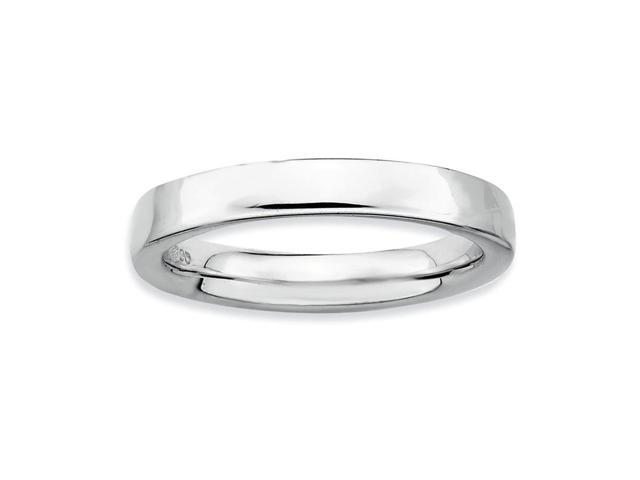 The Ultimate Happiness 925 Sterling Silver Stackable Rhodium Plated Ring