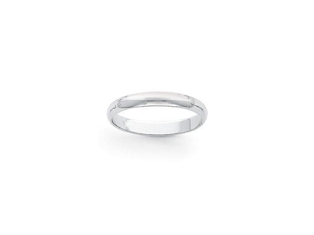 950 Platinum 3mm Half-Round Wedding Band