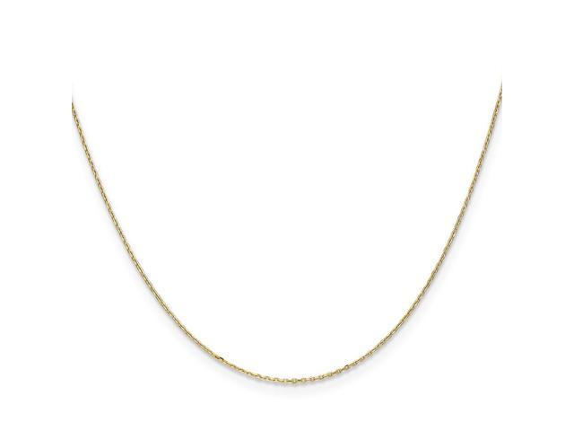 14k Yellow Gold 16in .6mm D/C Cable Necklace Chain