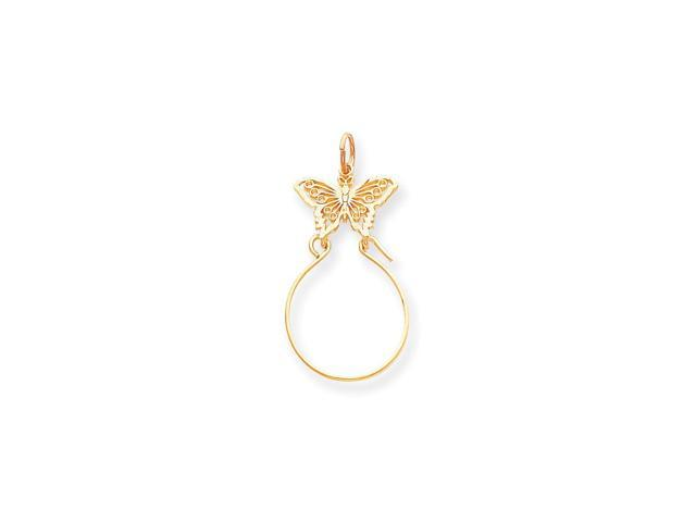 14k Yellow Gold Butterfly Holder Pendant