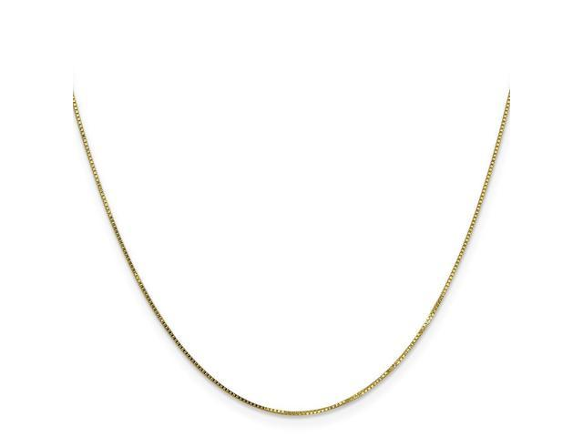 10k Yellow Gold 16in .7mm Box Necklace Chain