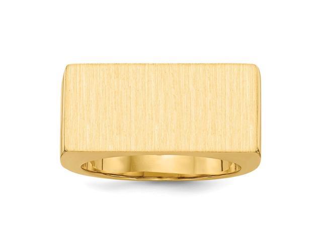14k Yellow Gold Engravable Men's Signet Ring (11.7mm x 23.7mm face)