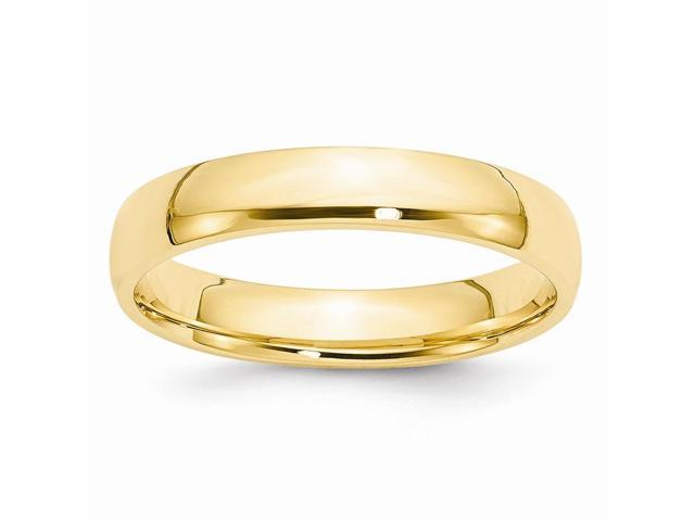 14k Yellow Gold Engravable 4mm Light-Weight Comfort-Fit Wedding Band