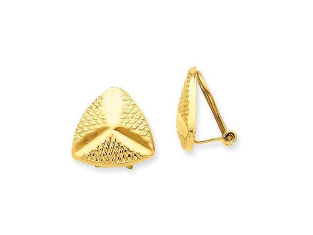 14k Yellow Gold Non-pierced Fancy Earrings (0.5IN x 0.6IN )