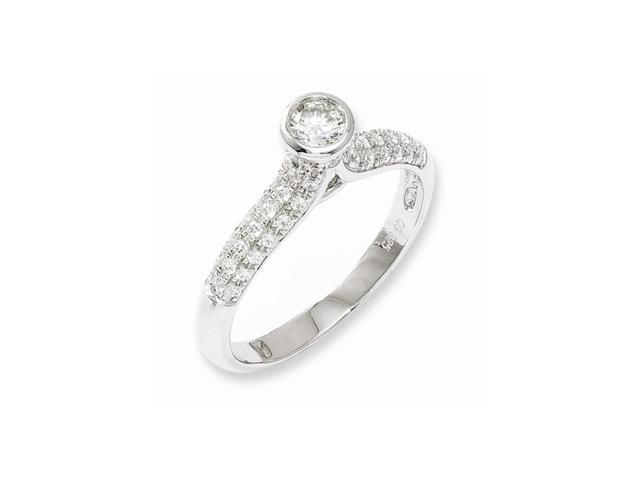 Sterling Silver & Synthetic CZ Fancy Ring