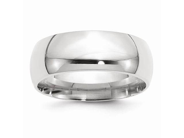 Palladium Medium Weight Comfort Fit 8.00mm Engravable Band