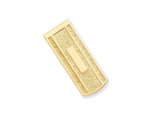 Stainless Steel with Engravable Area Money Clip