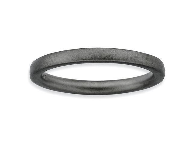 Cause of Joy Silver Stackable Black Satin Band