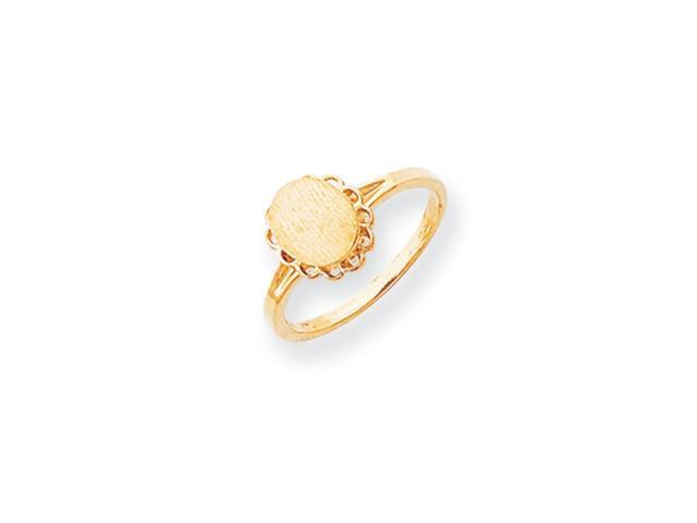 14k Yellow Gold Engravable Signet Ring (9.1mm x 9.2mm face)