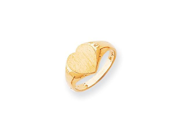 14k Yellow Gold Engravable Signet Ring (9.5mm x 9.4mm face)