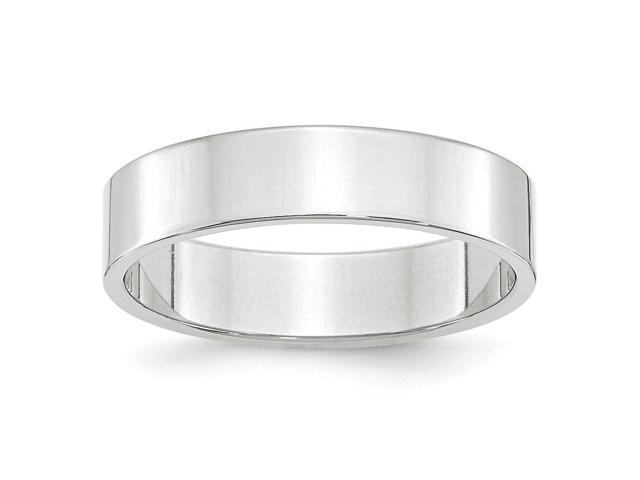 14k White Gold Engravable 5mm Flat Band
