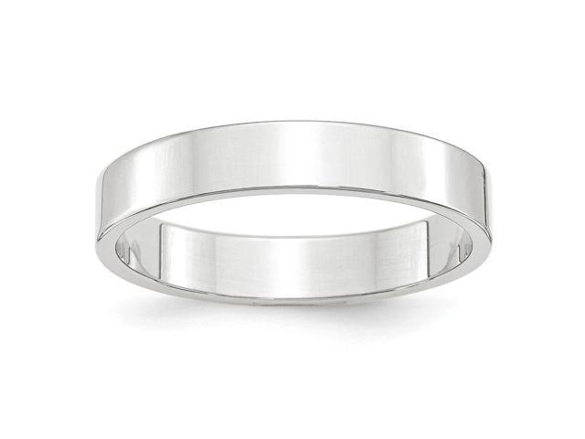 14k White Gold Engravable 4mm Flat Band
