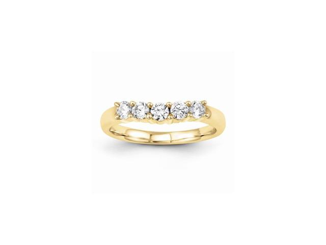 14k Yellow Gold Diamond Band (Color H-I, Clarity SI2-I1)