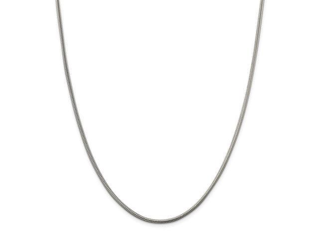 Sterling Silver 30in 2.25mm Round Snake Necklace Chain