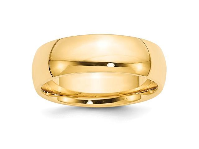 14k Yellow Gold Engravable 7mm Comfort-Fit Band