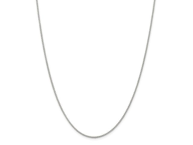 Sterling 20in Silver 1.50mm Round Spiga Necklace Chain