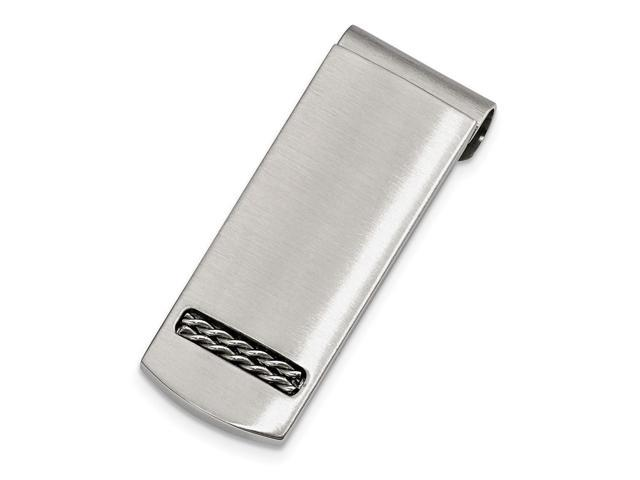 Stainless Steel Brushed Engravable Money Clip