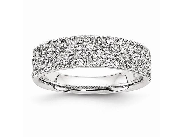 14k White Gold Fancy Diamond Ring (Color H-I, Clarity SI2-I1)