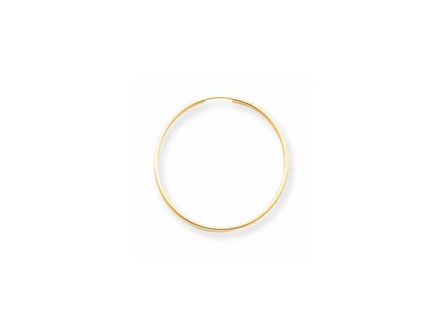 14k Yellow Gold Childs Endless Hoop Earrings w/ Gift Box (1.3IN Long)