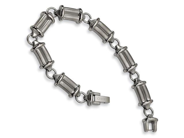 Titanium Brushed and Polished Bracelet (9in long)