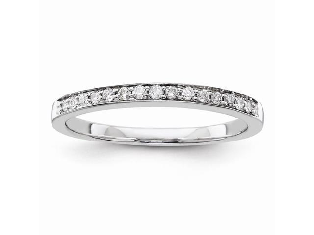 14k White Gold Diamond Wedding Band (Color I-J, Clarity I1-I2)