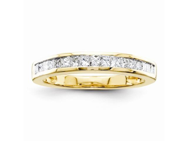14k Yellow Gold A Complete Diamond Wedding Band (Color I-J, Clarity I1-I2)