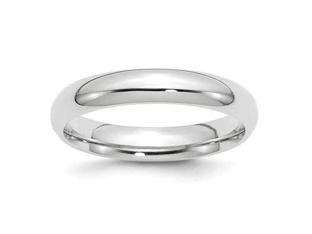 14k White Gold Engravable 4mm Comfort-Fit Band