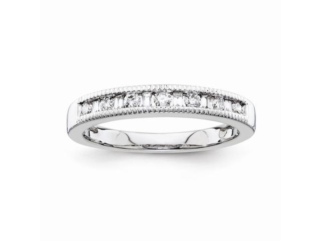 14k White Gold Diamond Wedding Band (Color H-I, Clarity SI2-I1)