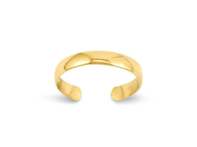 14k Yellow Gold High Polished Toe Ring