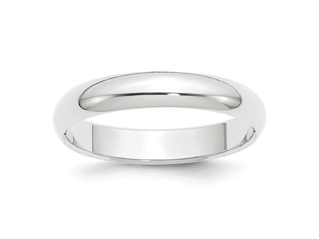 950 Platinum 4mm Half-Round Featherweight Engravable Band