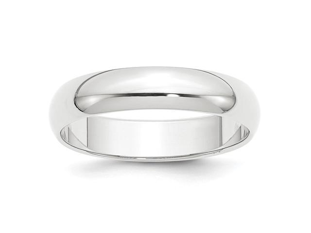 950 Platinum 5mm Half-Round Wedding Engravable Band