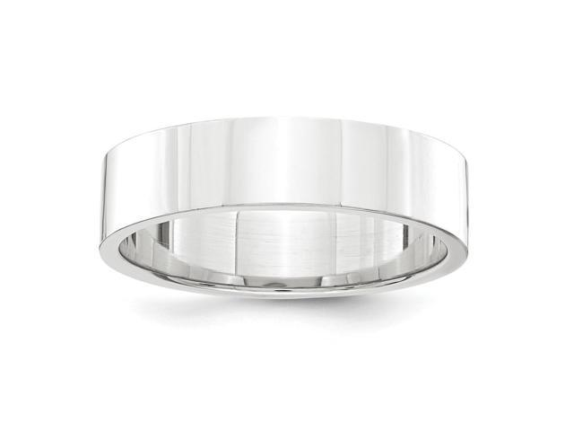 950 Platinum 5mm Flat Wedding Engravable Band