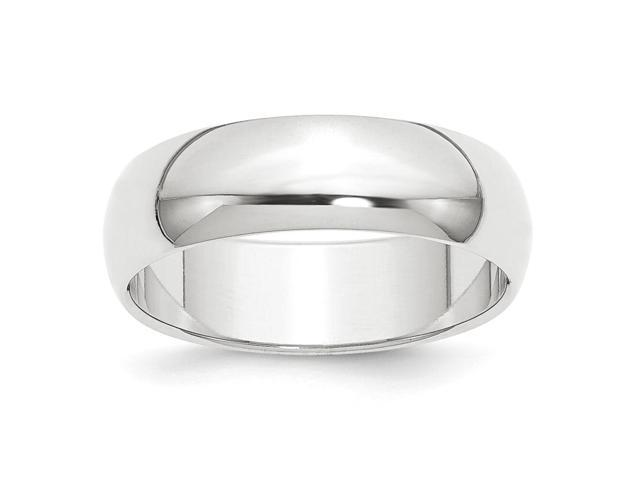 950 Platinum 8mm Half-Round Featherweight Engravable Band