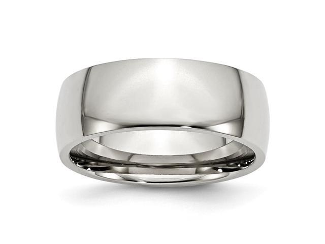Stainless Steel 8mm Engravable Polished Band
