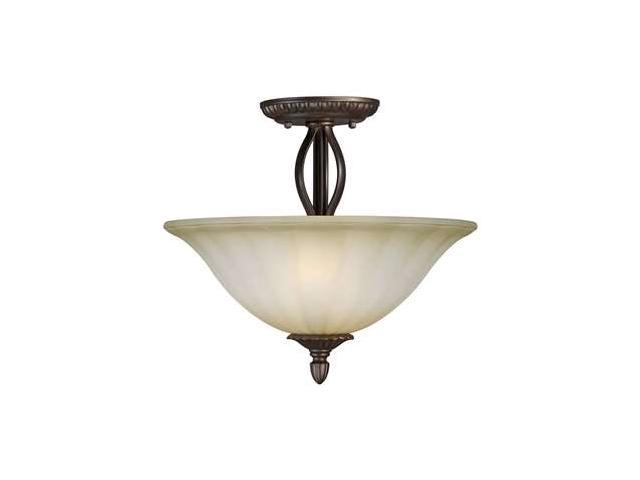 Forte Lighting 2 Light Semi Flush Mount in Antique Bronze - 2333-02-32