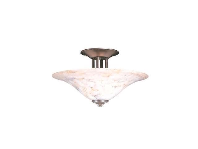 Framburg Black Forest 3 Light Semi Flush Mount in White Marble - 9161SP-WM