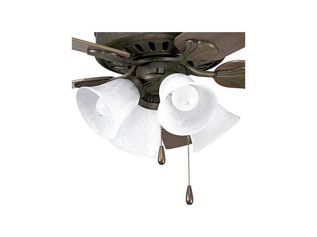 Progress Lighting Alabaster Glass Four-Light Fan Light Kit - P2616-46