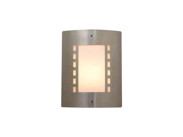 PLC Lighting Paolo 1 Light Outdoor Fixture in Satin Nickel - 1873-SN
