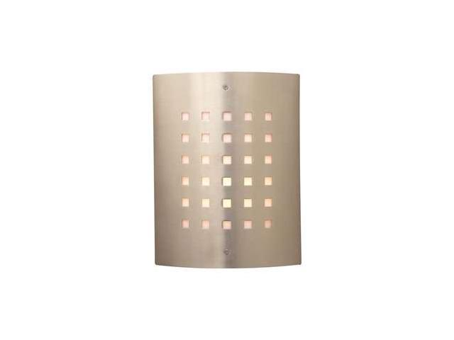 PLC Lighting Figaro 1 Light Outdoor Fixture in Satin Nickel - 1879-SN